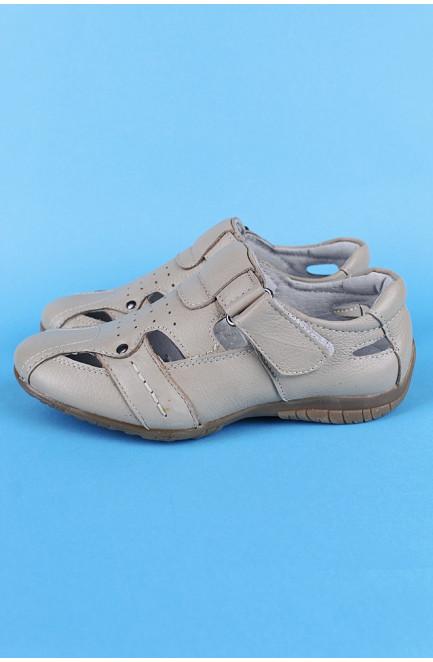 Туфли мальчик светло-бежевые 122344L