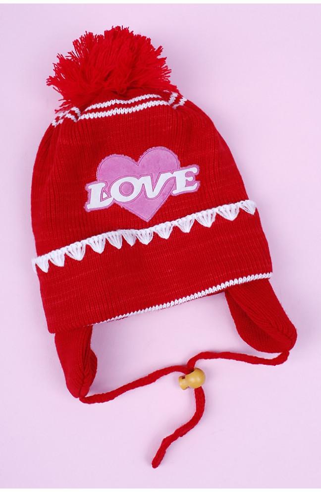 "Шапка детская "" LOVE"" на 2-3 года 097322L"