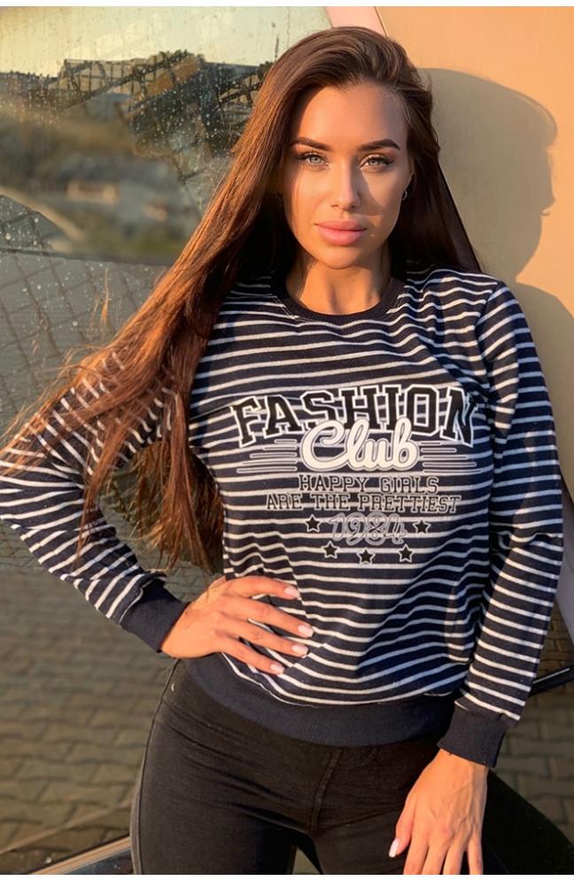 Батник женский Fashion тёмно синий 123766L