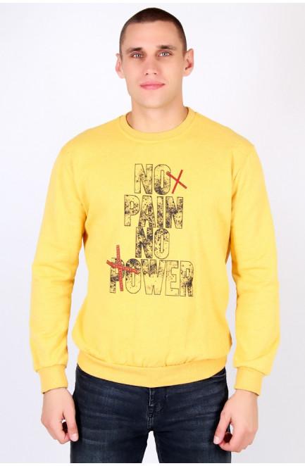 Батник мужской на флисе желтый