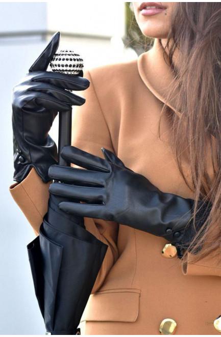 Перчатки женские черные 707