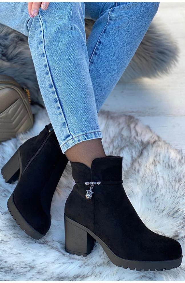 Ботинки зимние женские черные 126709L