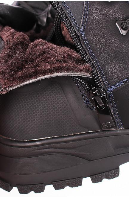 Ботинки зимние мужские черные 126572L
