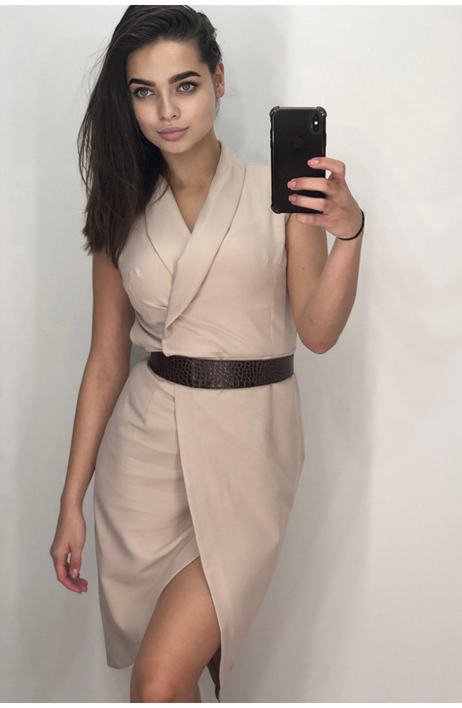 Платье женское беж 125973L