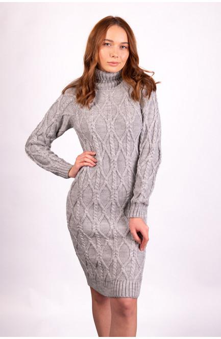 Платье вязаное женское серое размер 44-46 126349L