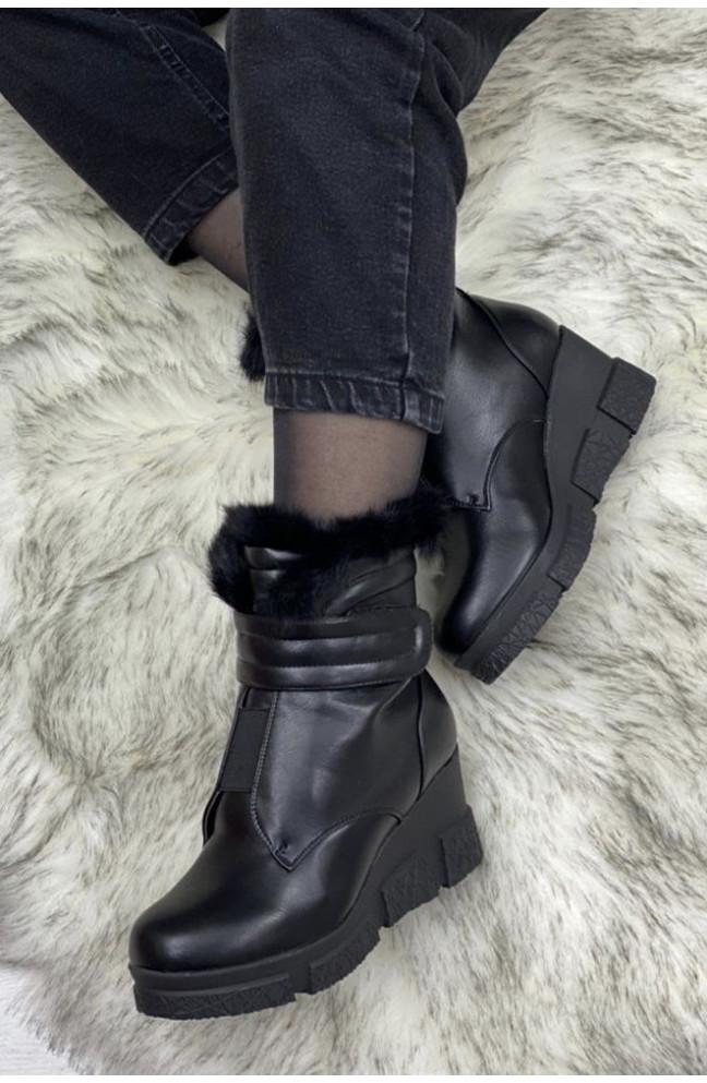 Ботинки женские черные 127232L
