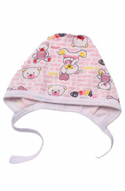 Шапочка для новорожденных на флисе белая 126984L