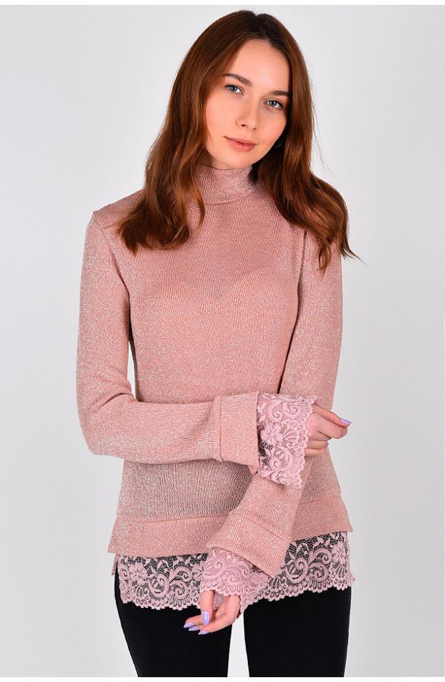 Гольф женский розовый размер S 127375L