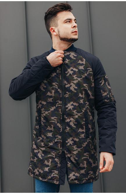 Куртка мужская удлиненная темно-синяя 127633L