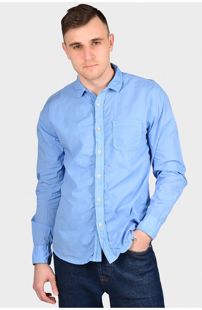 Рубашка мужская голубая 128967L